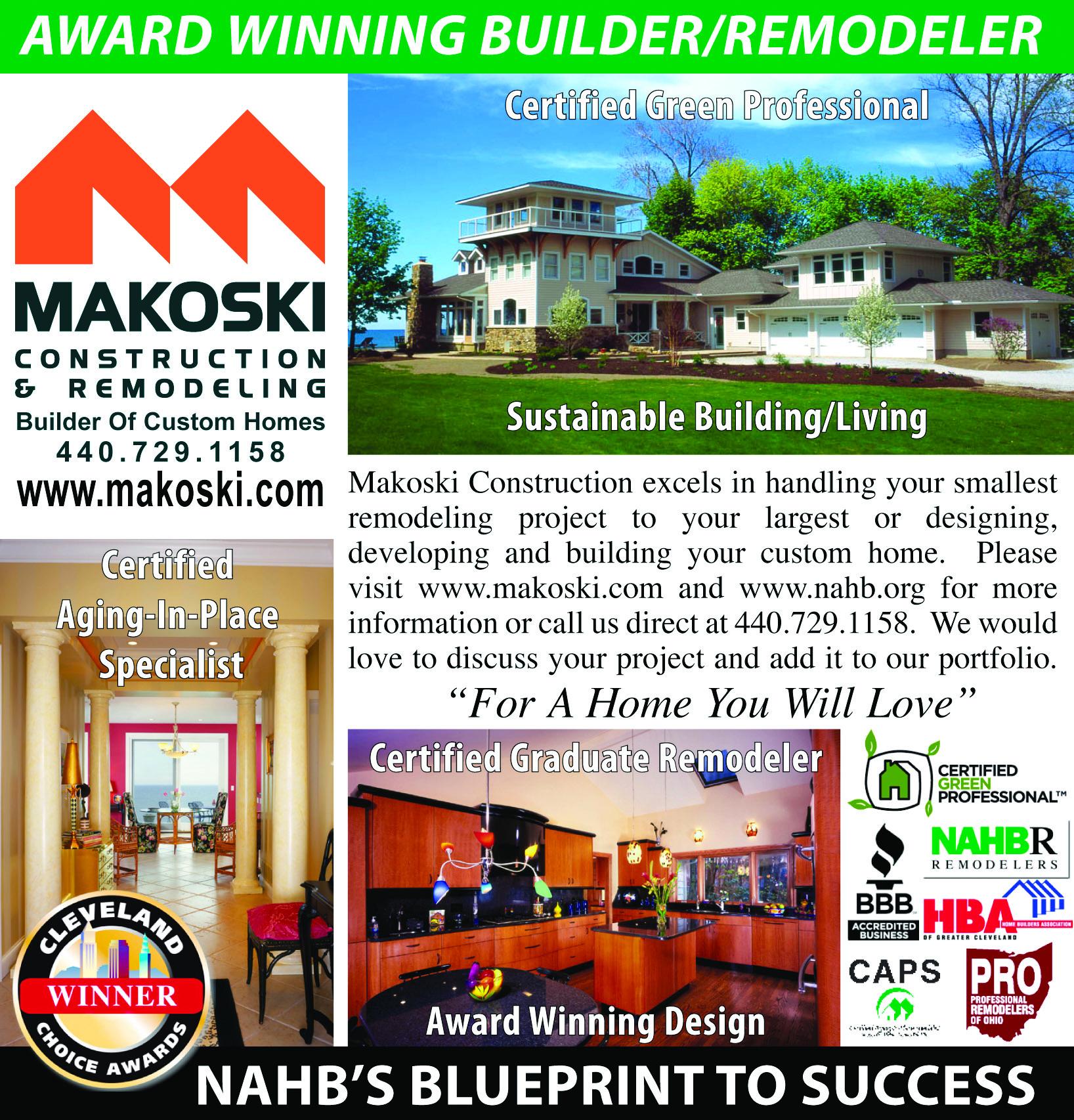 Makoski Construction Sustainable Building