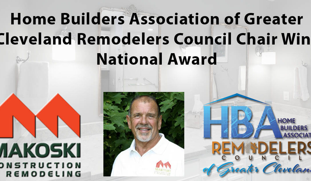 HBA of Greater Cleveland Remodelers Council Chair Wins National Award